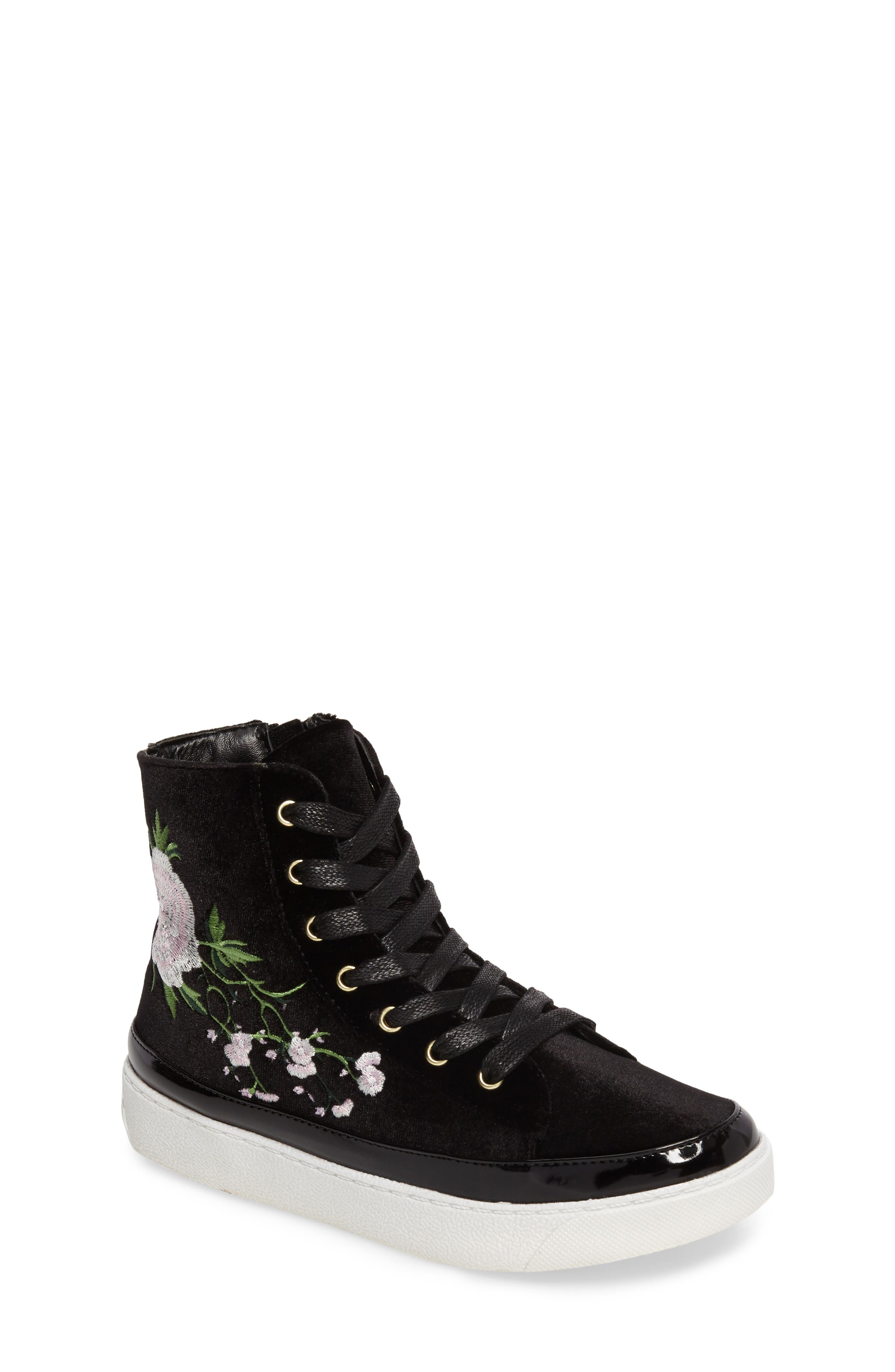 Sam Edelman Harriet Danielle Embroidered High Top Sneaker (Toddler, Little Kid & Big Kid)