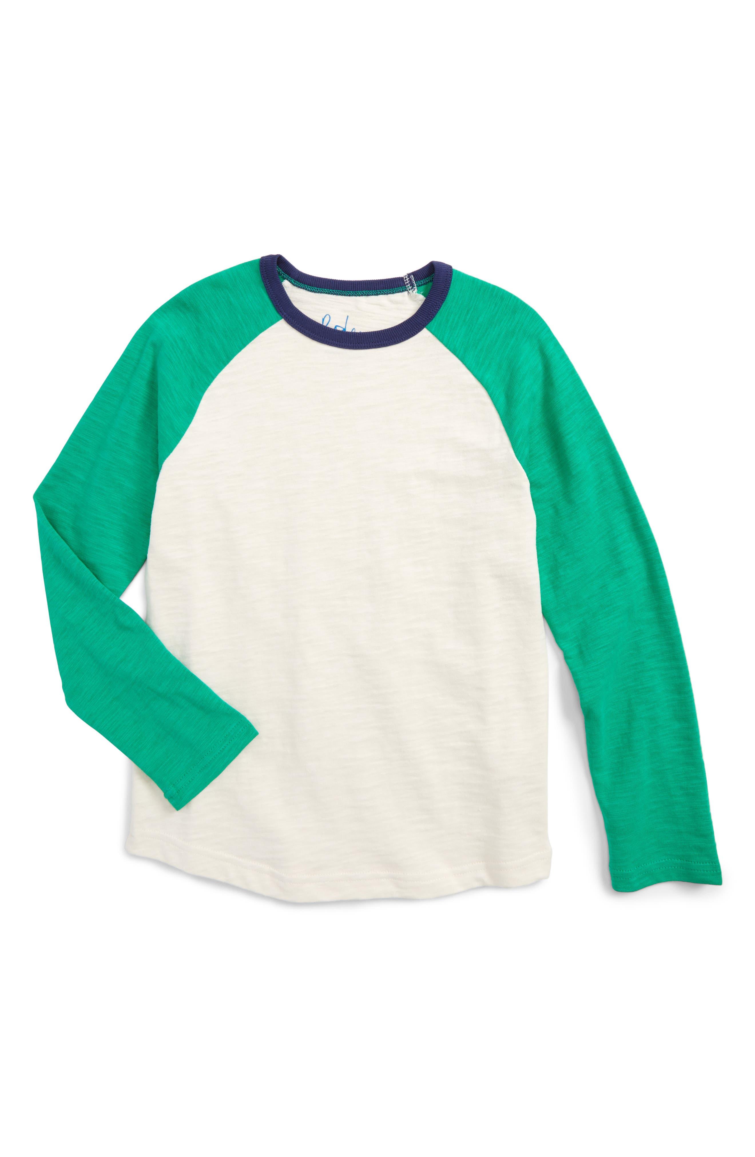 Mini Boden Raglan Sleeve T-Shirt (Toddler Boys, Little Boys & Big Boys)