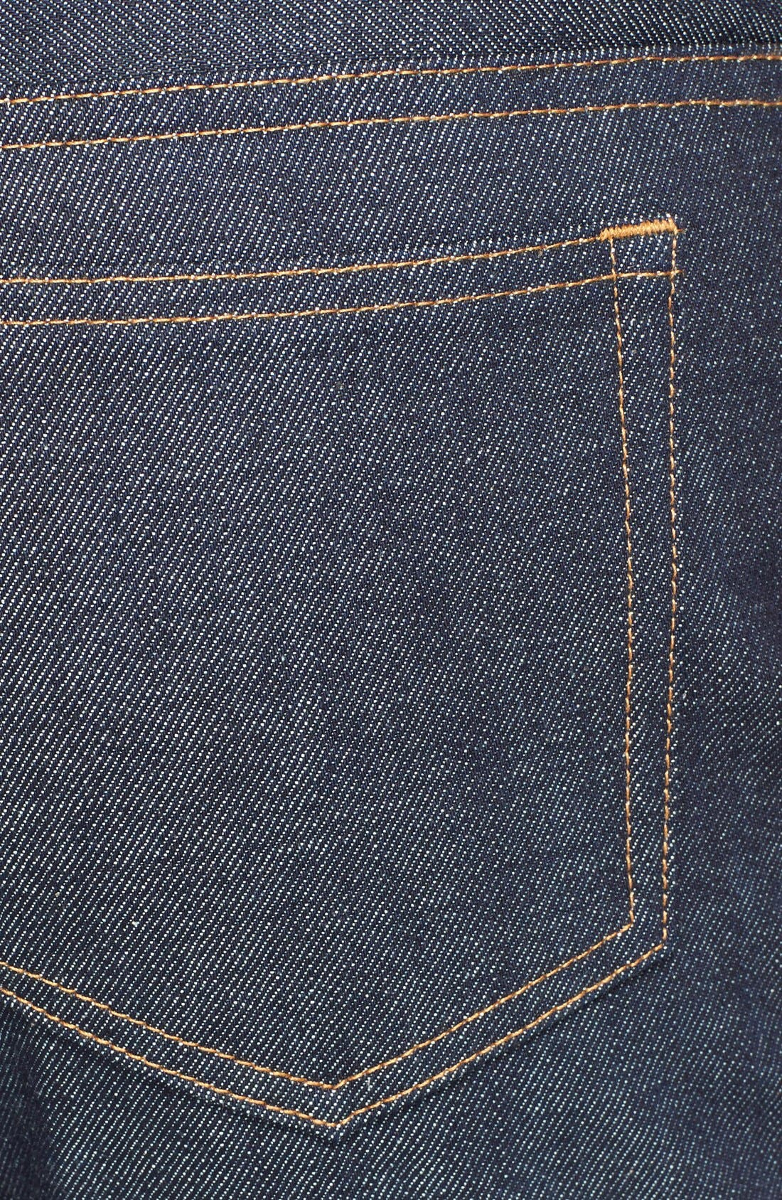 Alternate Image 4  - A.P.C. New Standard Slim Straight Leg Selvedge Jeans (Indigo)