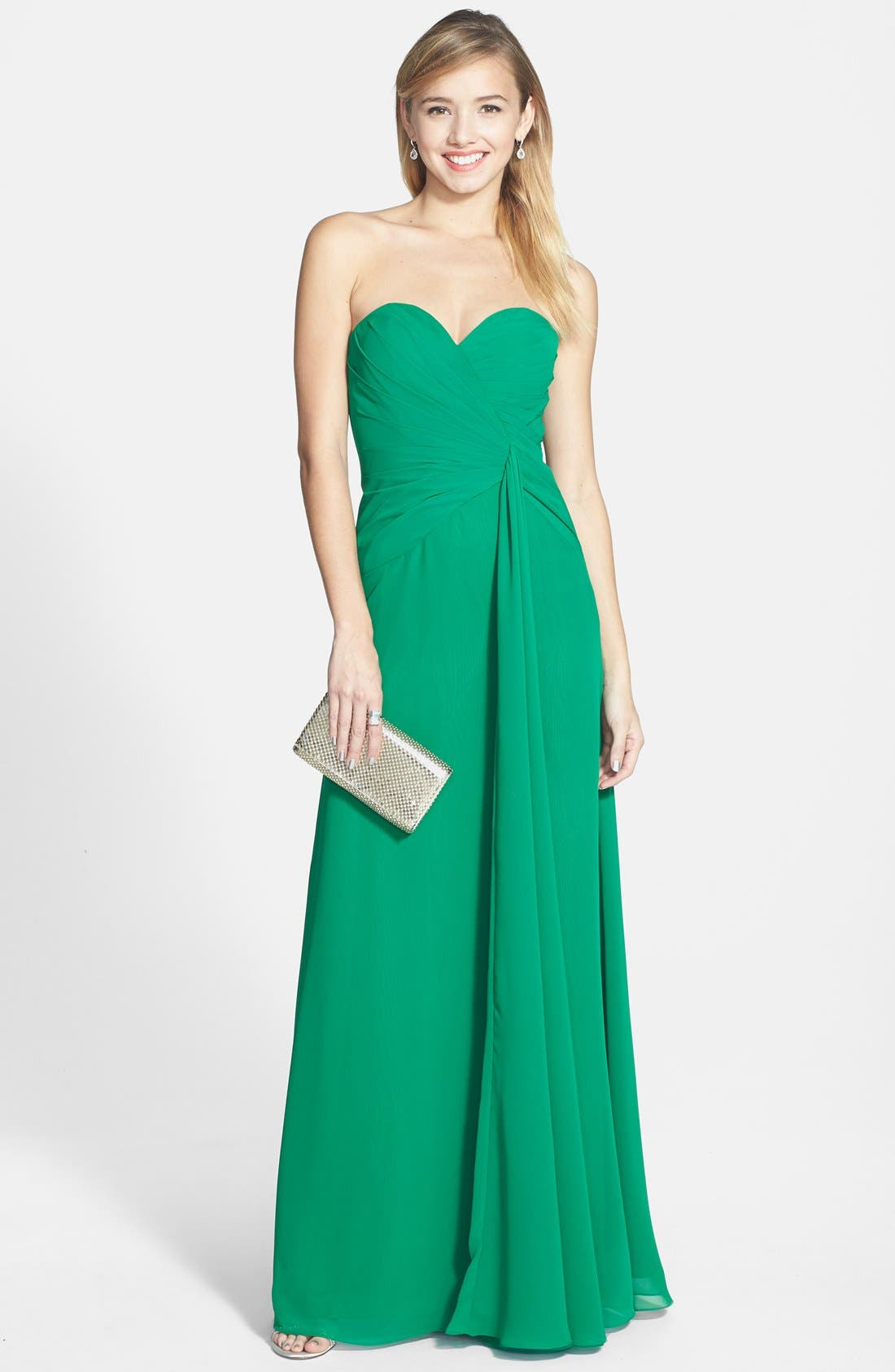 Alternate Image 1 Selected - Faviana Sweetheart Chiffon Gown (Online Only)