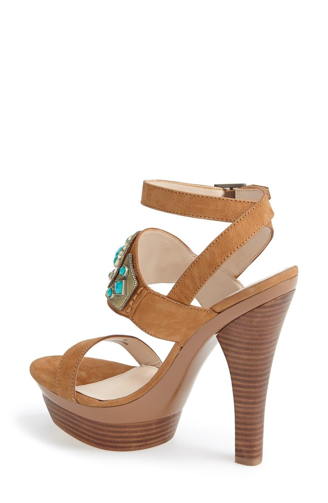 Alternate Image 2  - Pelle Moda 'Cian' Jeweled Leather Ankle Strap Platform Sandal (Women)