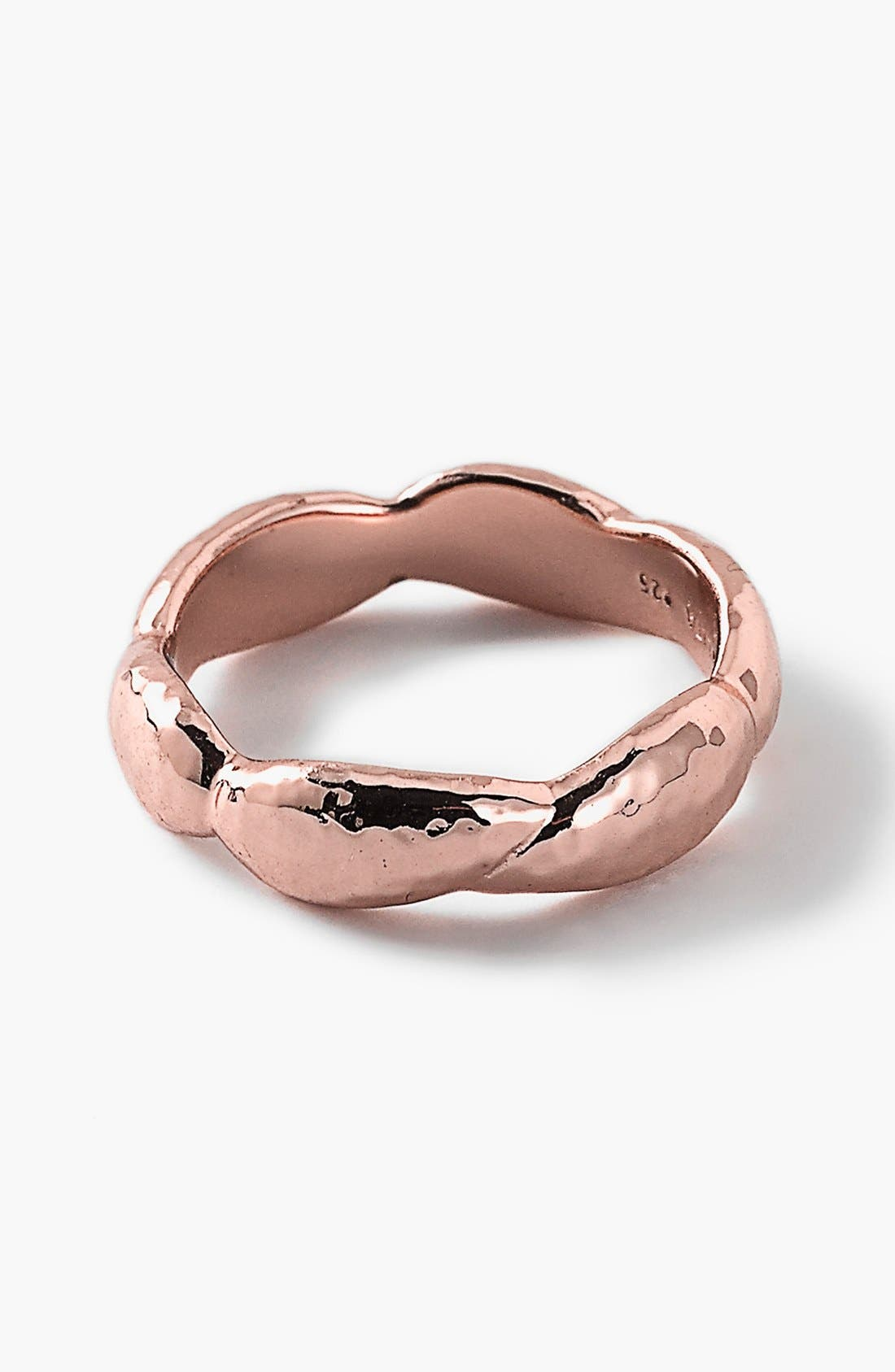 Alternate Image 1 Selected - Ippolita 'Rosé Glamazon' Hammered Band Ring