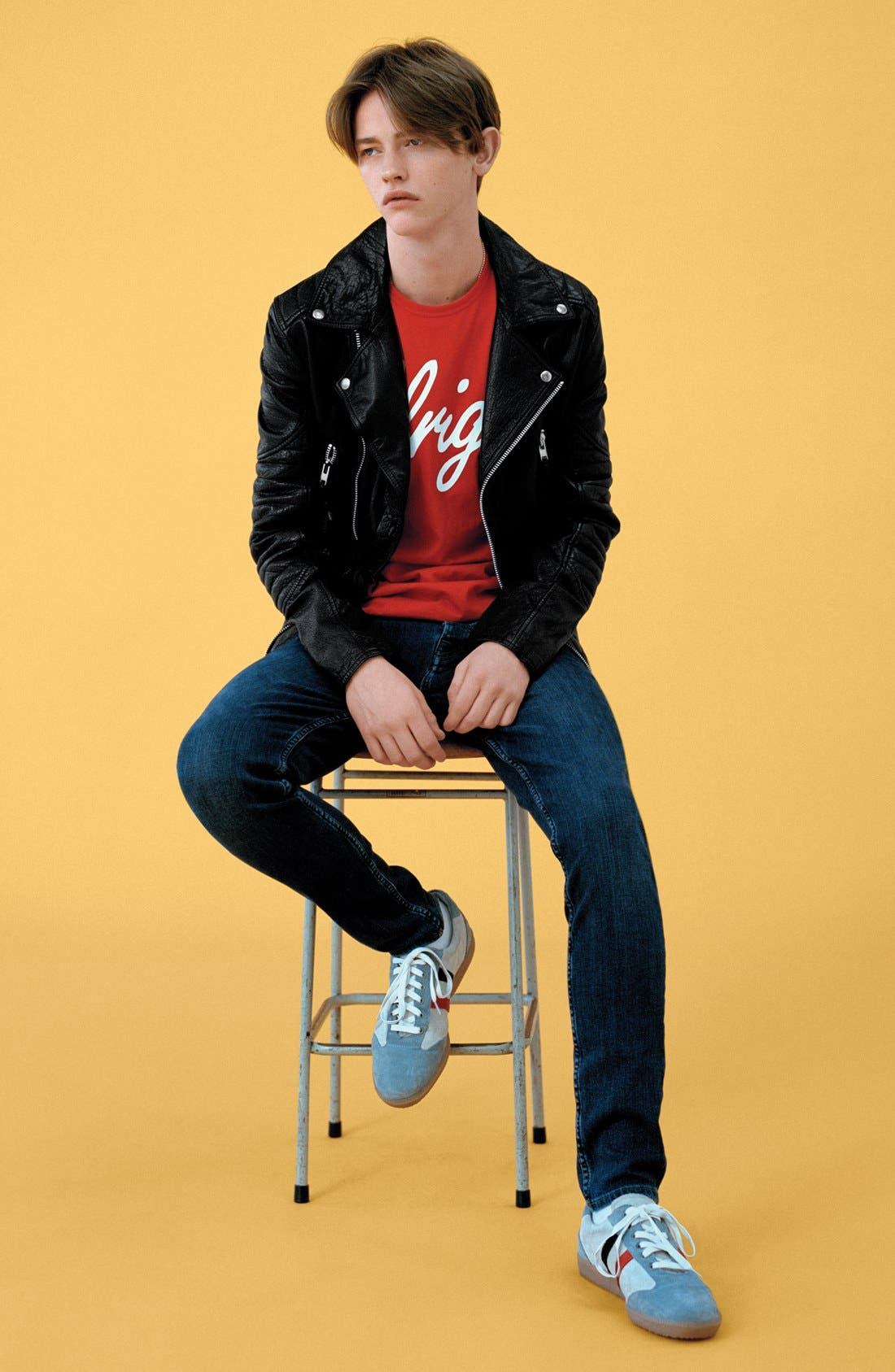 Alternate Image 5  - Topman 'Alright' Jersey T-Shirt (Brit Pop-In) (Nordstrom Exclusive)