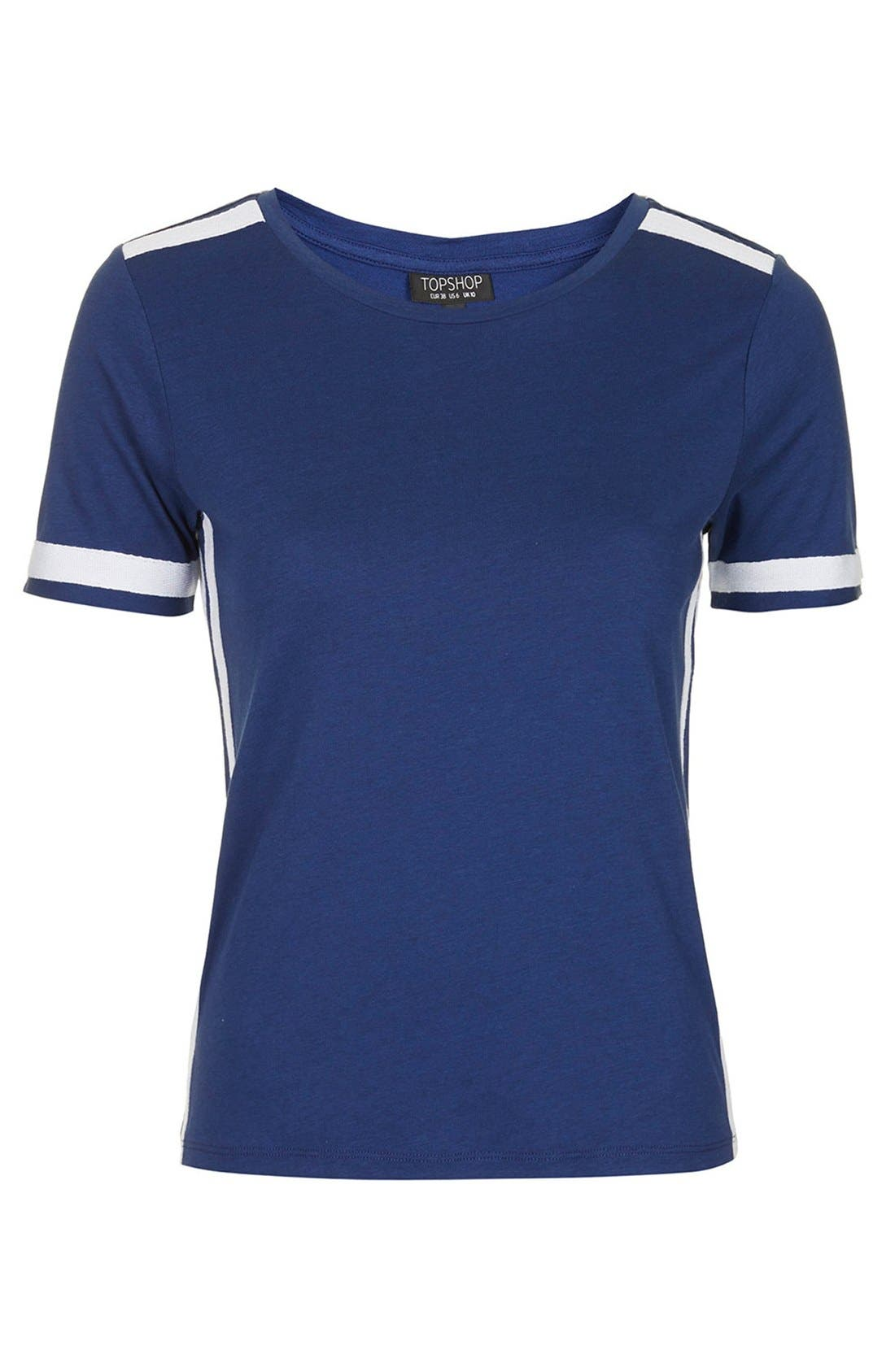 Alternate Image 3  - Topshop Grosgrain Trim Crewneck Tee