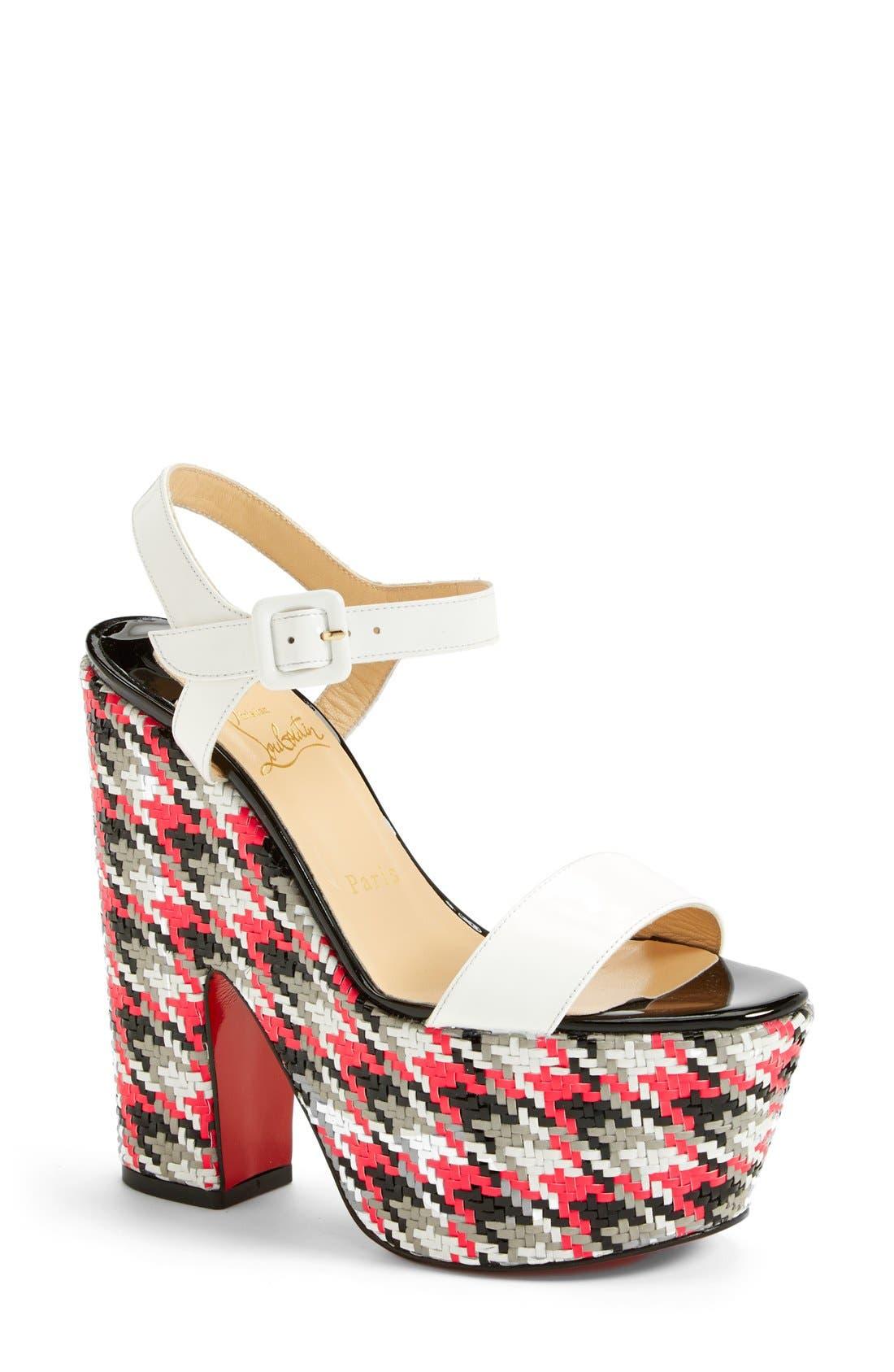 Alternate Image 1 Selected - Christian Louboutin 'Bella' Plaid Platform Sandal