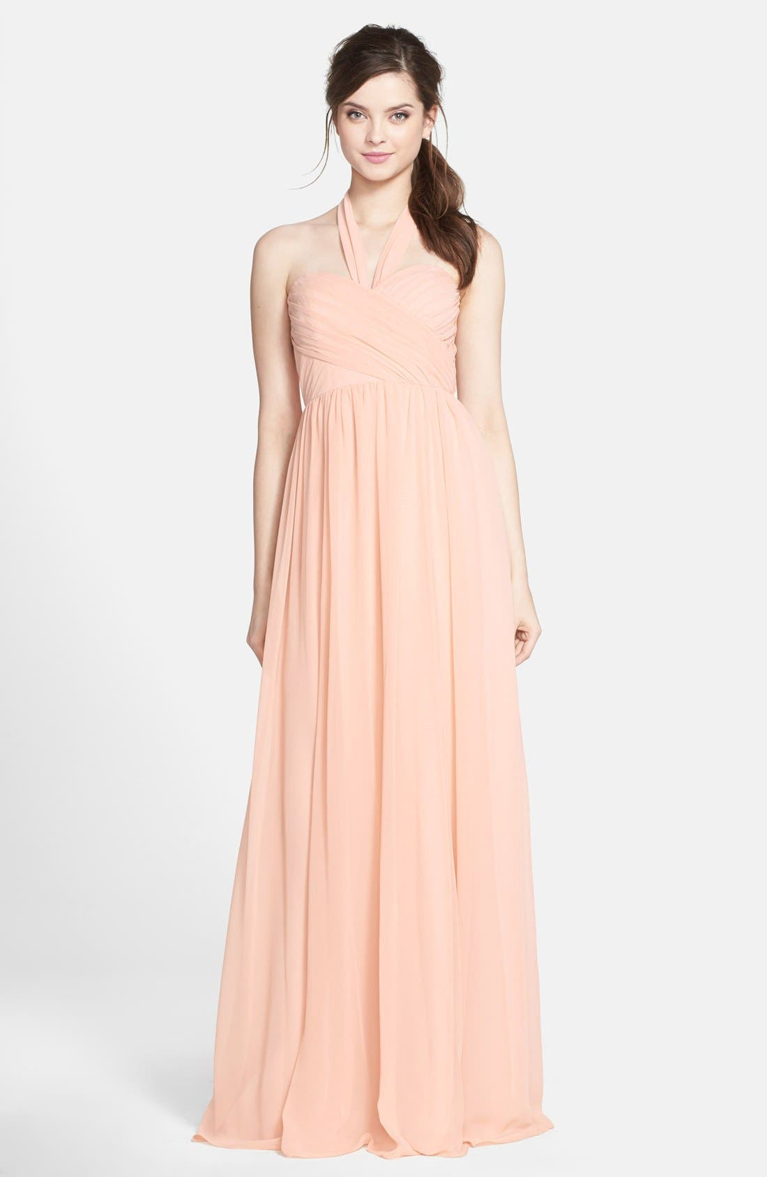 Alternate Image 1 Selected - Jenny Yoo 'Leah' Convertible Chiffon Gown