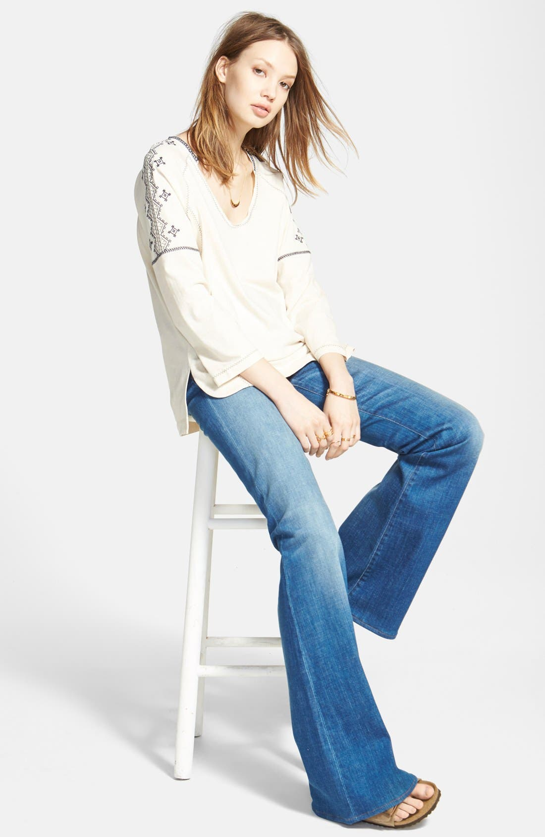Alternate Image 4  - Madewell 'Flea Market Flare' High Rise Jeans (Thom)
