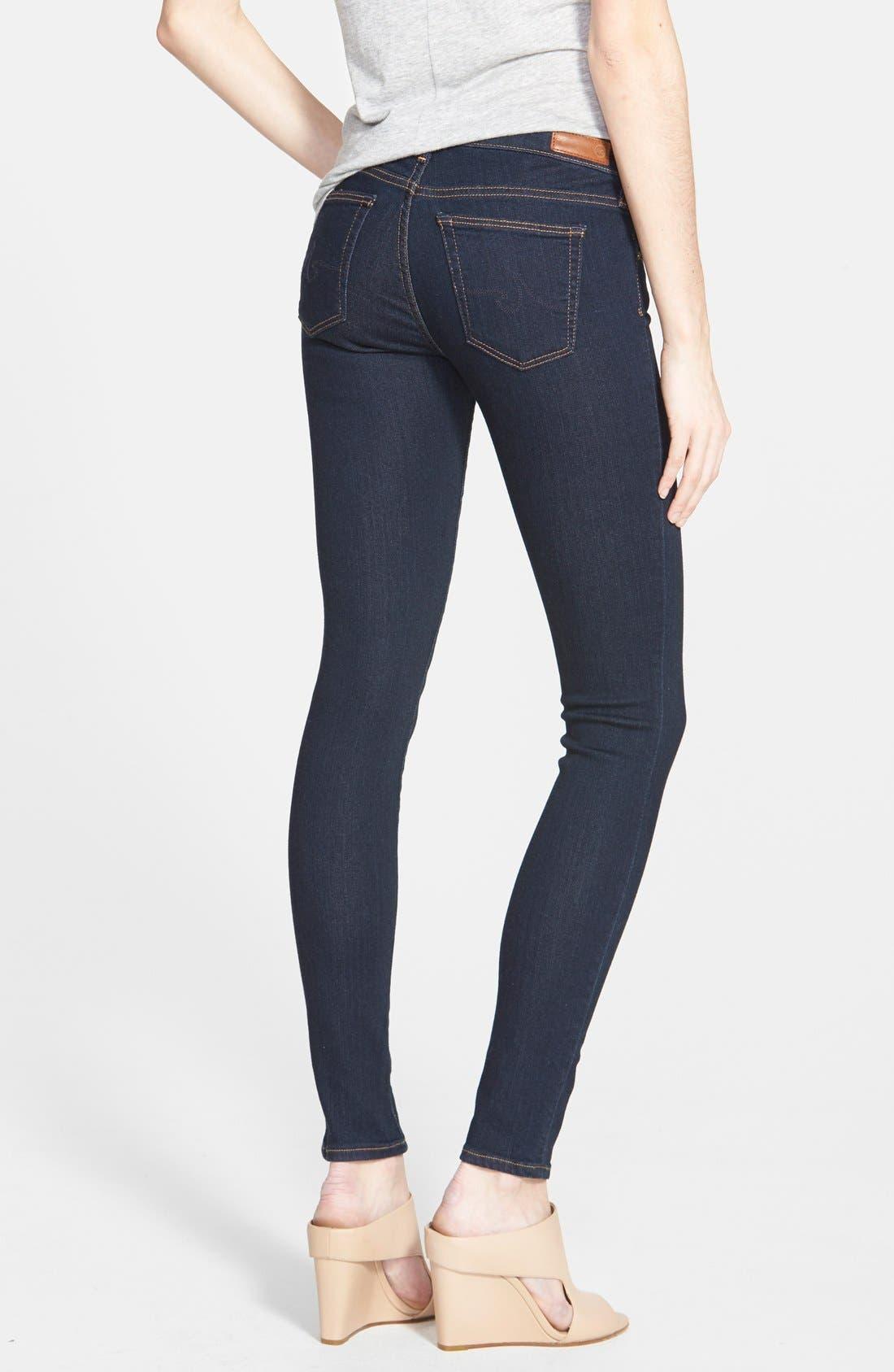 Alternate Image 2  - AG Jeans Super Skinny Stretch Jeans (Delight)