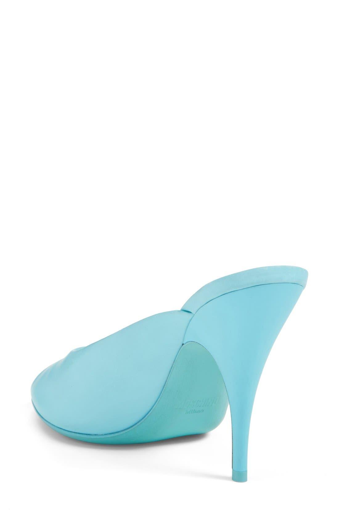 Alternate Image 2  - Moschino Peep Toe Leather Sandal (Women)