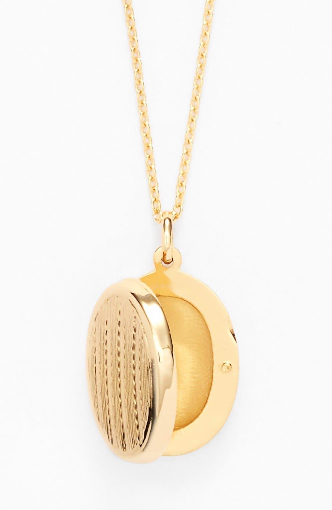 Alternate Image 2  - Argento Vivo Textured Oval Locket Necklace