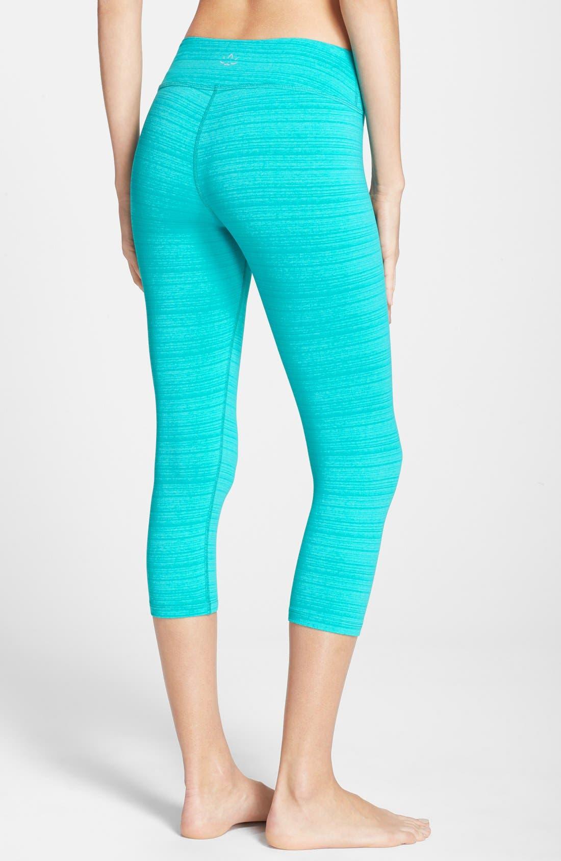 Alternate Image 2  - Beyond Yoga 'Stripe-Hype' Capri Leggings