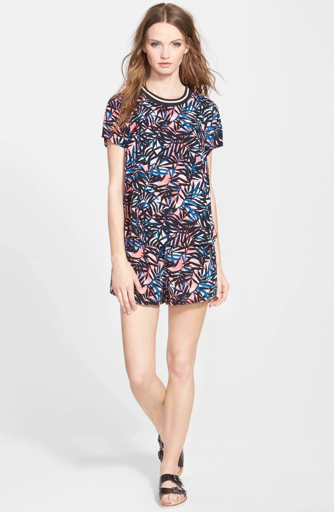 Alternate Image 3  - Lily White Tropical Print Shorts (Juniors)