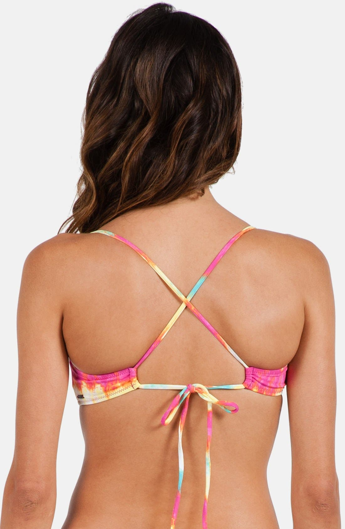 Alternate Image 2  - Volcom 'Sun Tripp' Crop Bikini Top