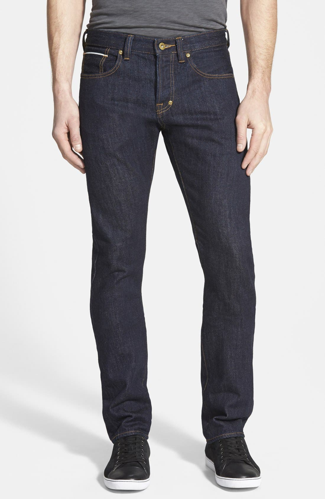 PRPS 'Demon' Slim Straight Leg Selvedge Jeans (Pressed Rinse)