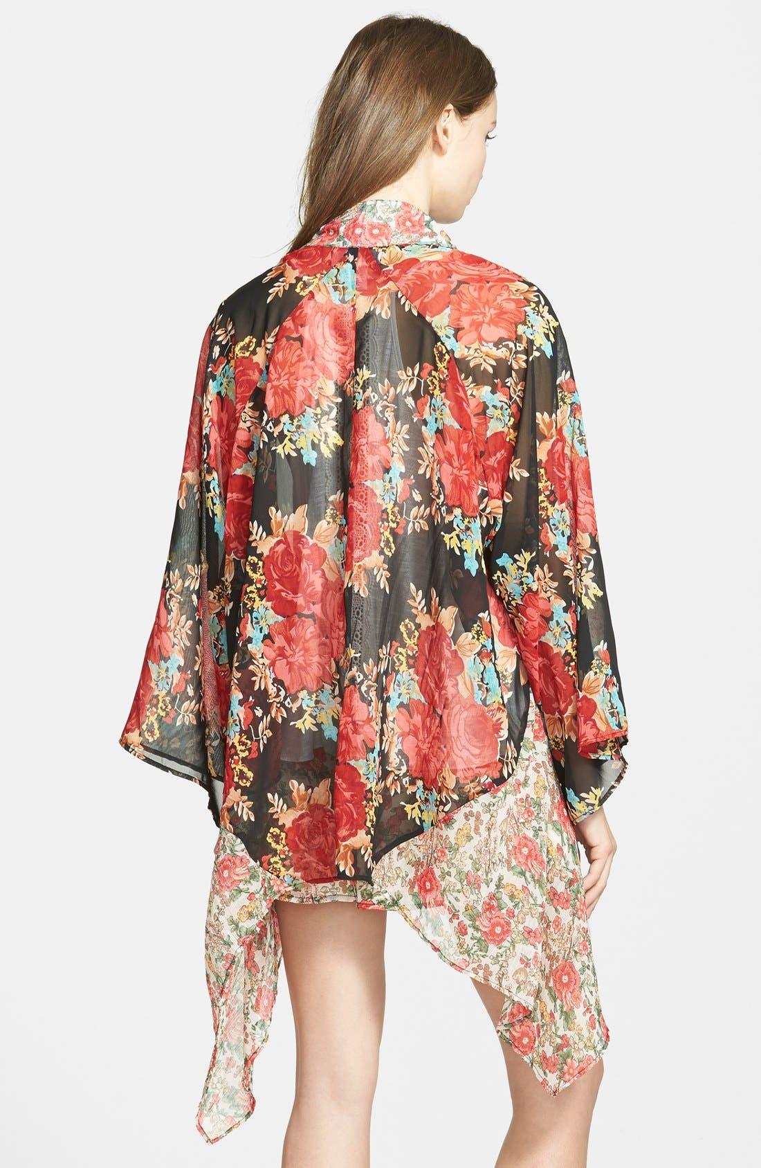 Alternate Image 2  - Band of Gypsies Mix Print Kimono