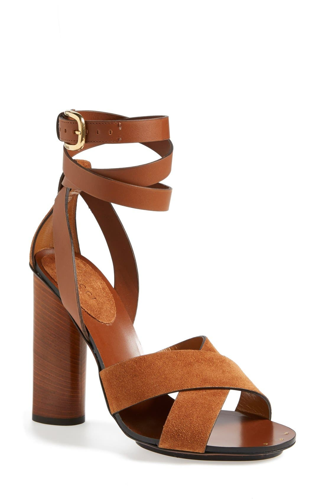 Alternate Image 1 Selected - Gucci 'Candy' Ankle Strap Sandal (Women)