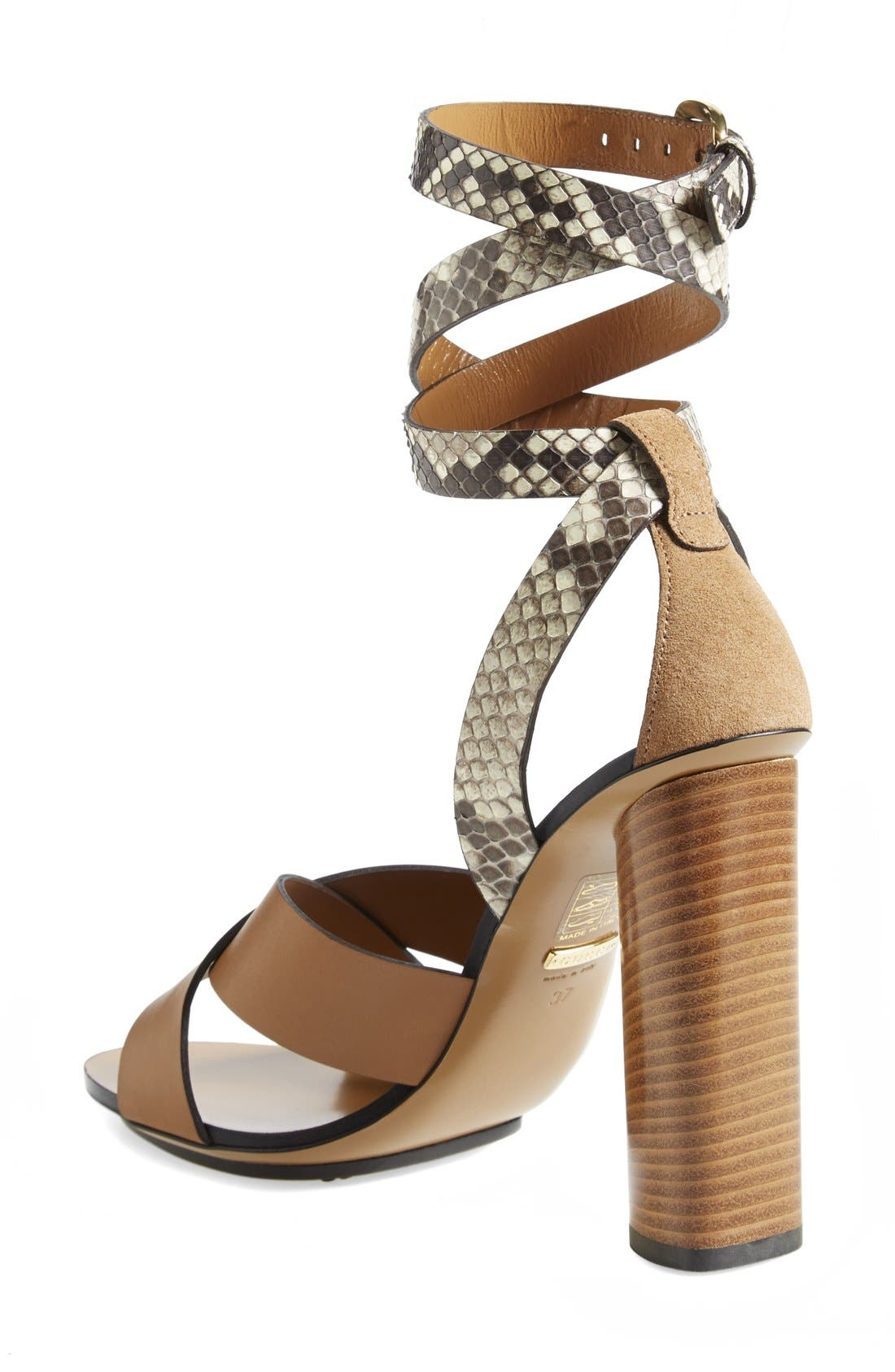 Alternate Image 2  - Gucci 'Candy' Genuine Python & Leather Sandal (Women)