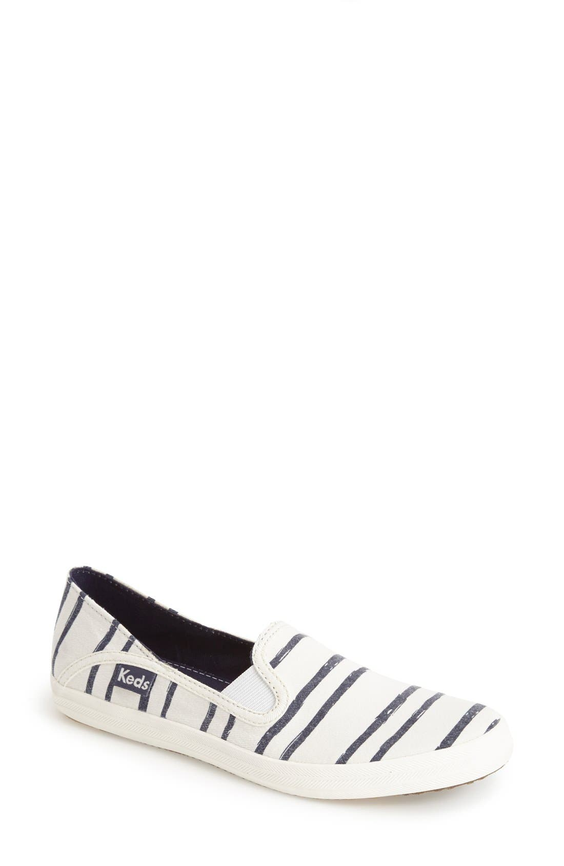 Main Image - Keds® 'Crashback - Washed Beach Stripe' Slip-On Sneaker (Women)