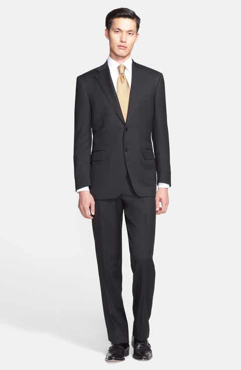 Canali Trim Fit Solid Wool Suit