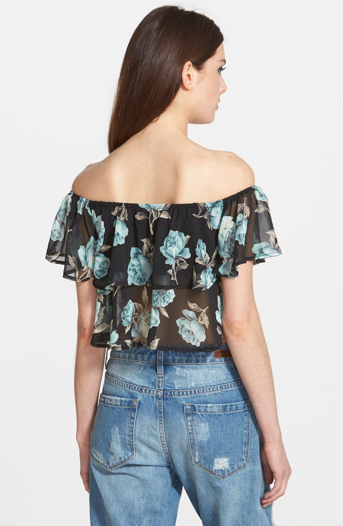 Alternate Image 2  - Leith Ruffled Off the Shoulder Top