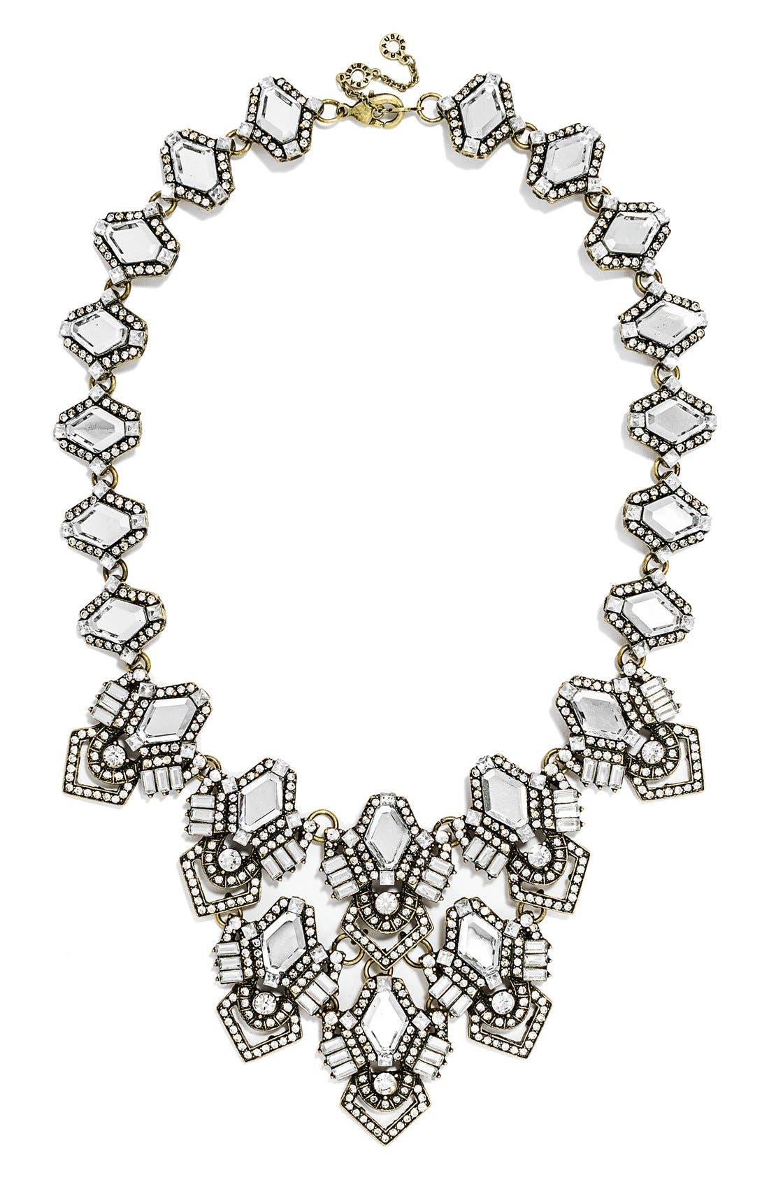 Alternate Image 1 Selected - BaubleBar 'Deco Diamond' Bib Necklace