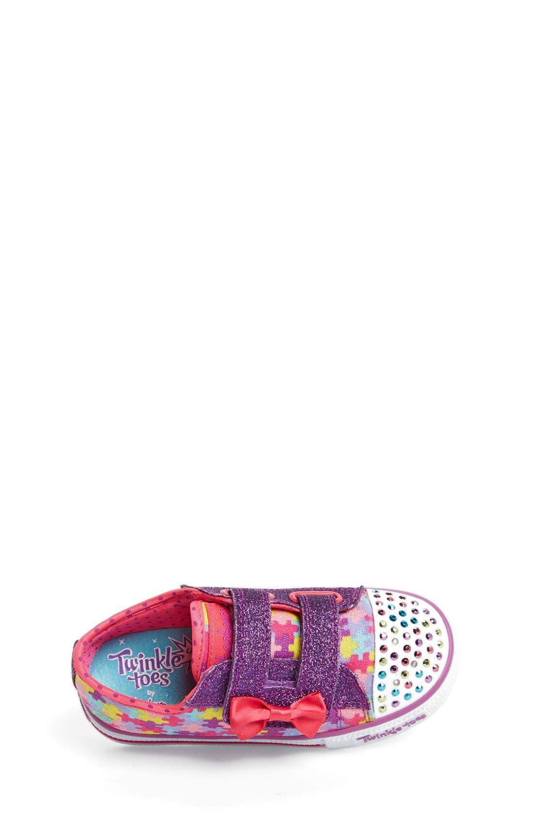 Alternate Image 3  - SKECHERS 'Twinkle Toes - Shuffles Jumpin Jigsaw' Light-Up Sneaker (Toddler)