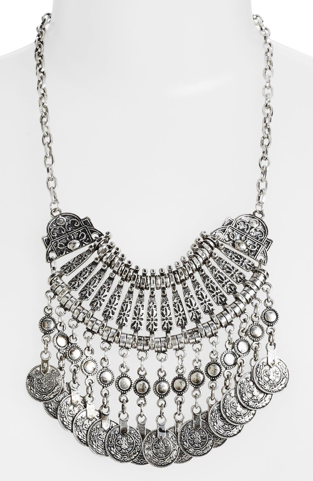 Alternate Image 2  - BP. Etched Coin Statement Necklace