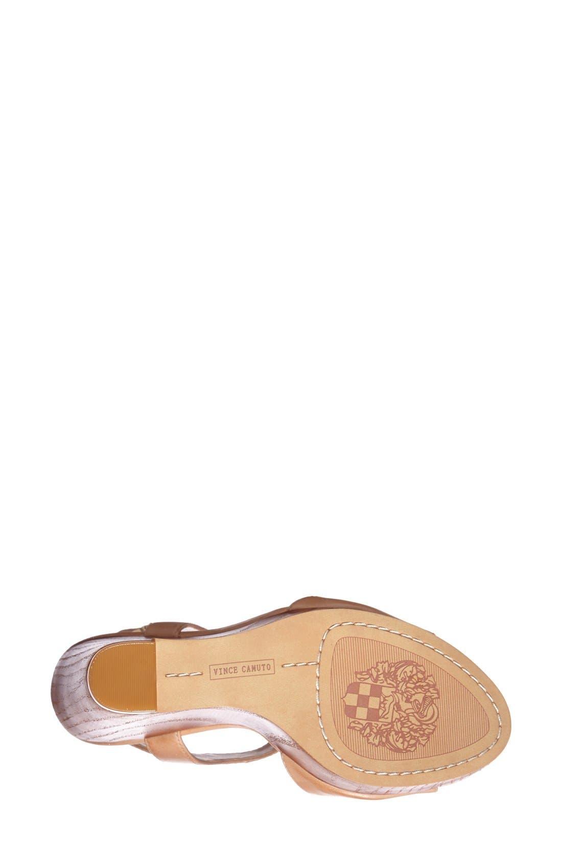 Alternate Image 4  - Vince Camuto 'Mathis' T-Strap Wedge Sandal (Women)
