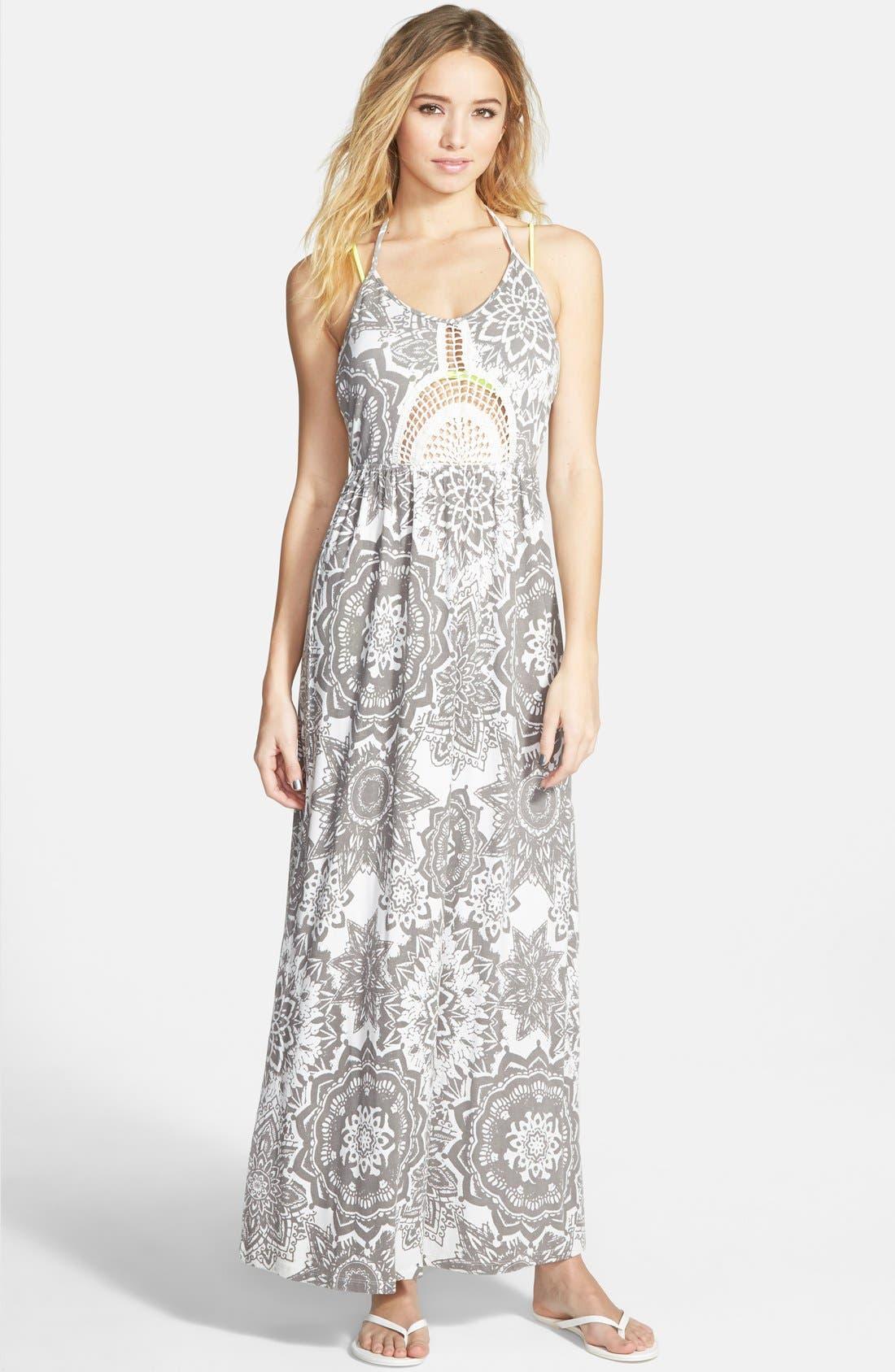 Main Image - Rip Curl 'Painted Desert' Halter Maxi Dress