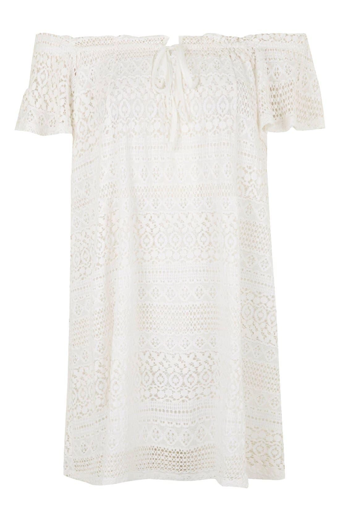 Alternate Image 5  - Topshop Lace Off the Shoulder Dress