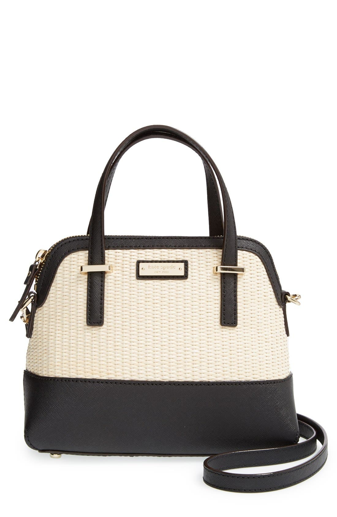 Main Image - kate spade new york 'cedar street straw - small maise' satchel