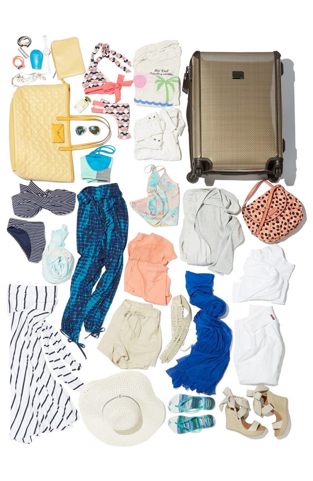 Alternate Image 2  - Max & Mia Crinkled Maxi Skirt (Regular & Petite)