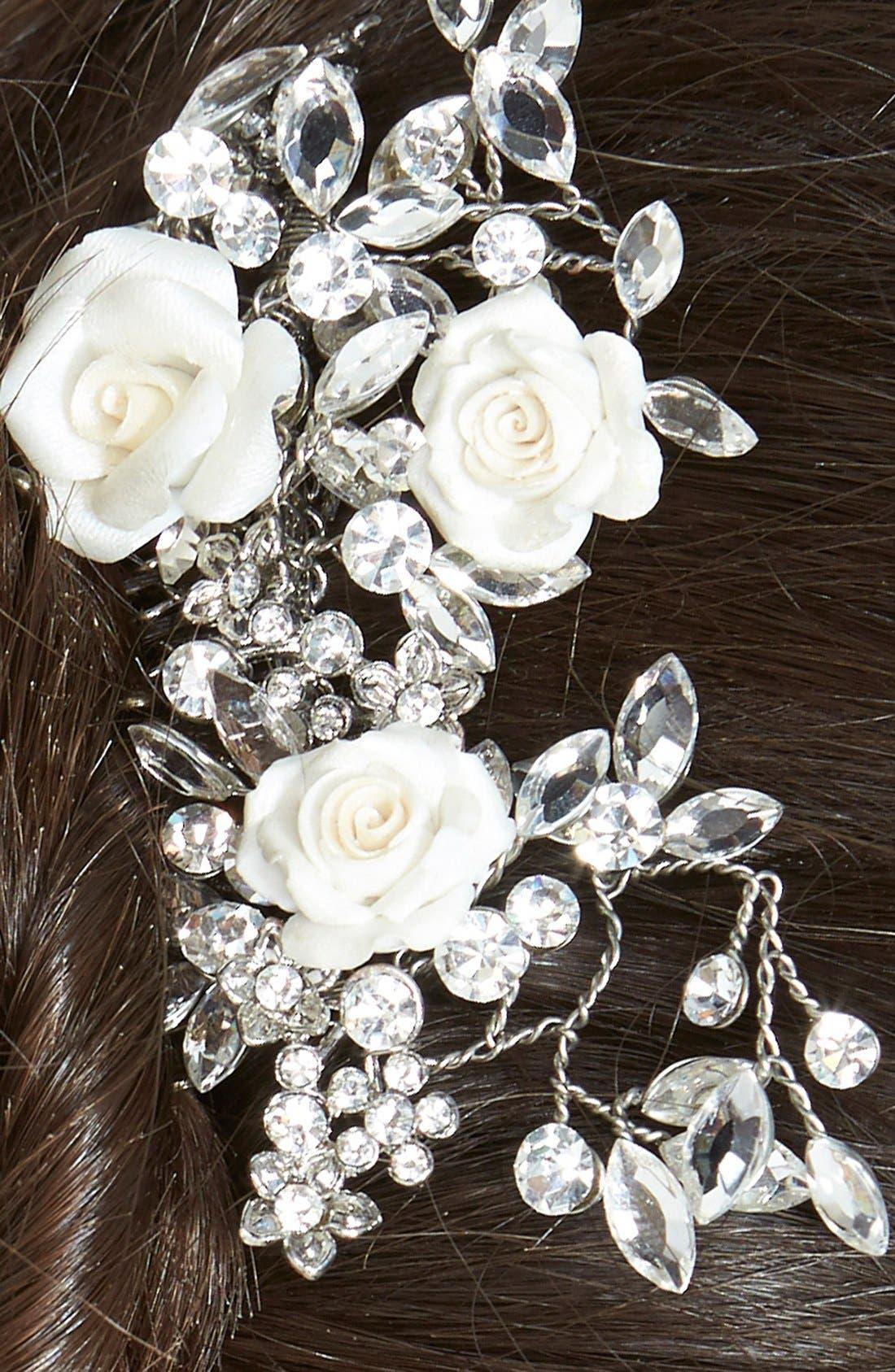 Alternate Image 2  - Wedding Belles New York Czech Crystal Rosette Hair Comb
