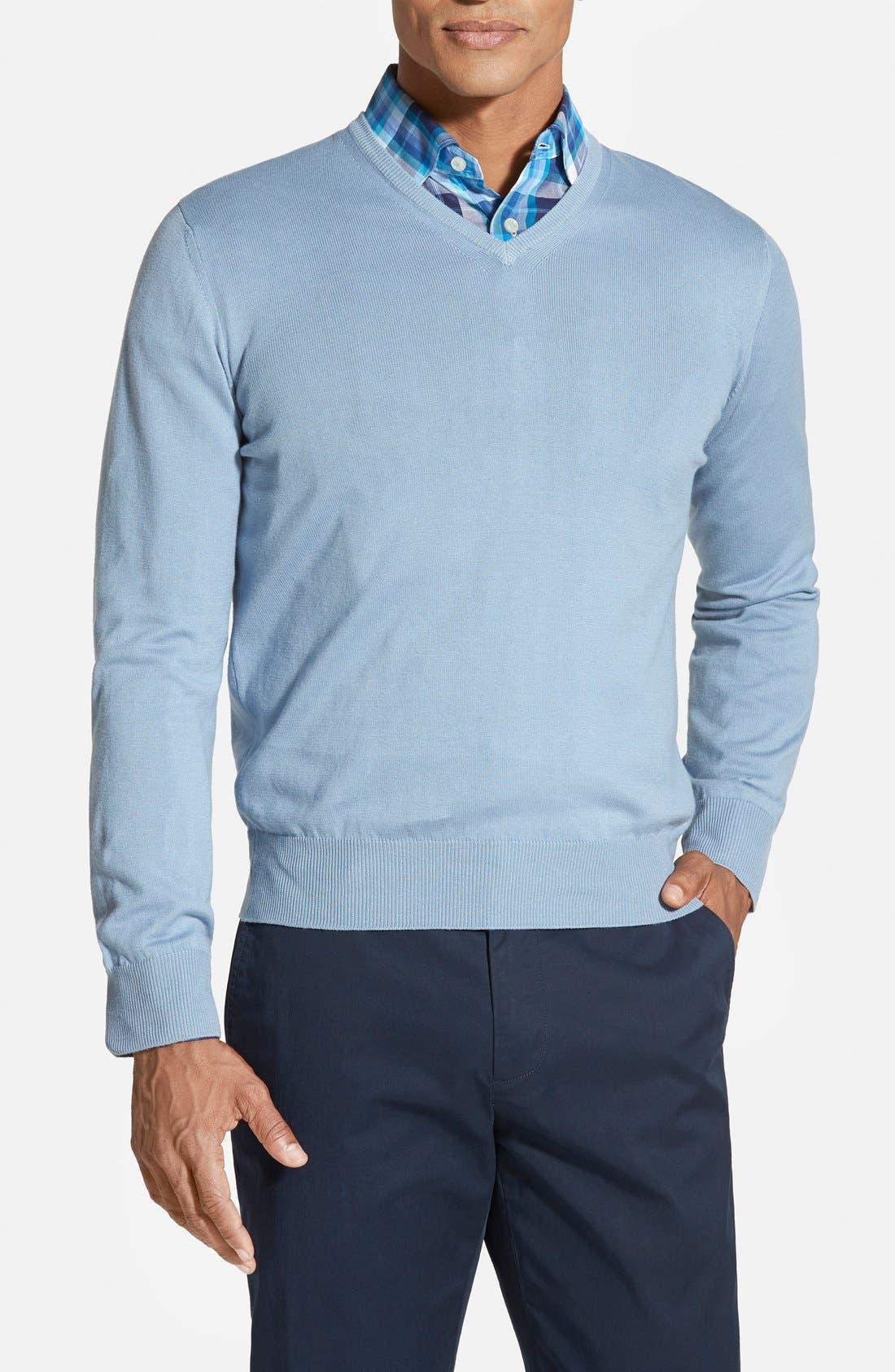 ROBERT TALBOTT Classic Fit V-Neck Sweater