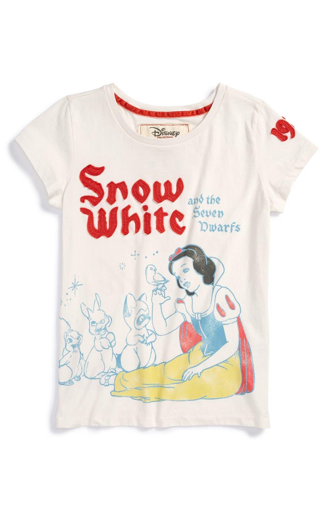 Main Image - Peek 'Disney® - Snow White & the Seven Dwarves' Graphic Pima Cotton Tee (Baby Girls)