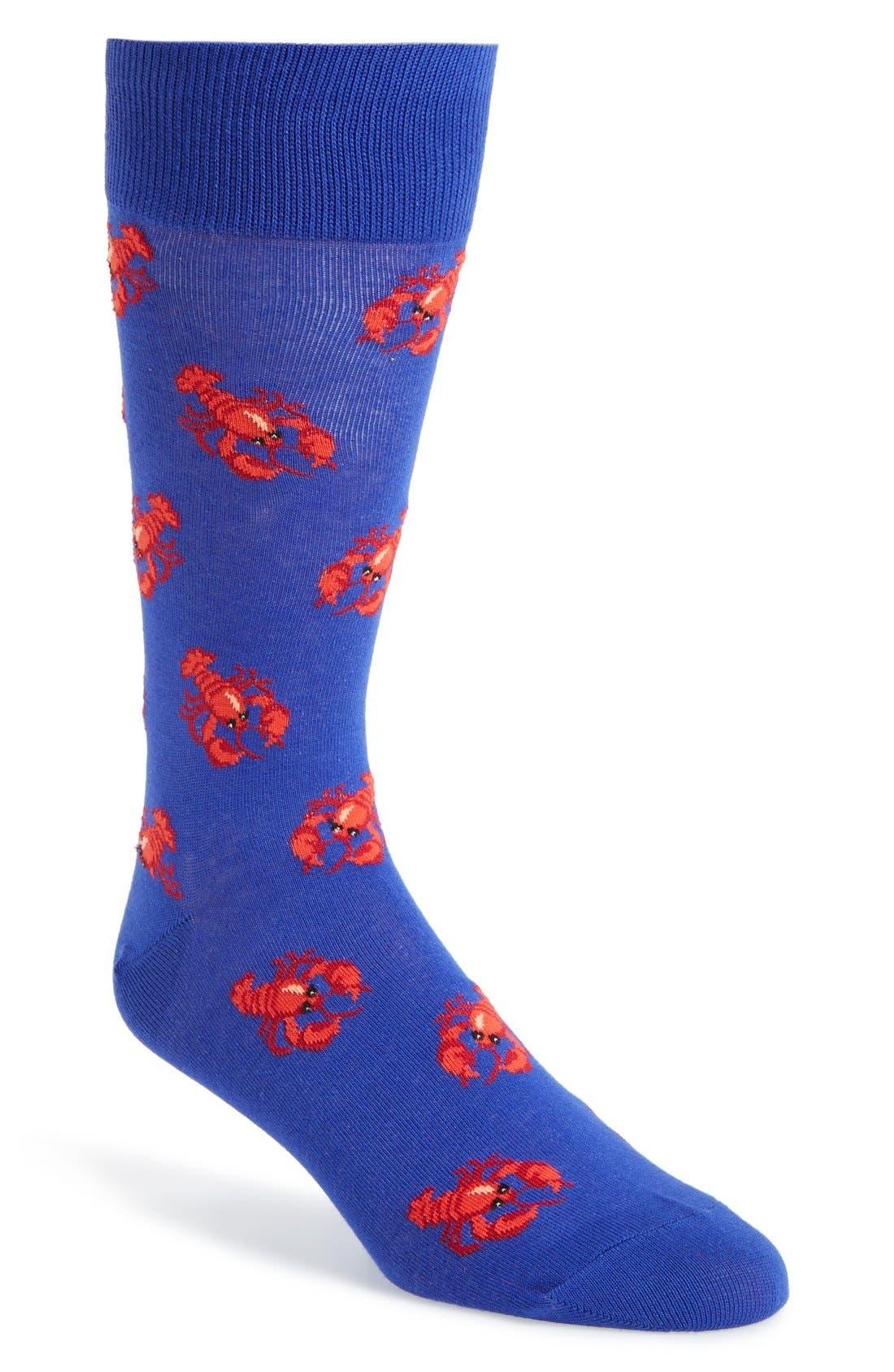 Alternate Image 1 Selected - Hot Sox 'Lobster' Socks