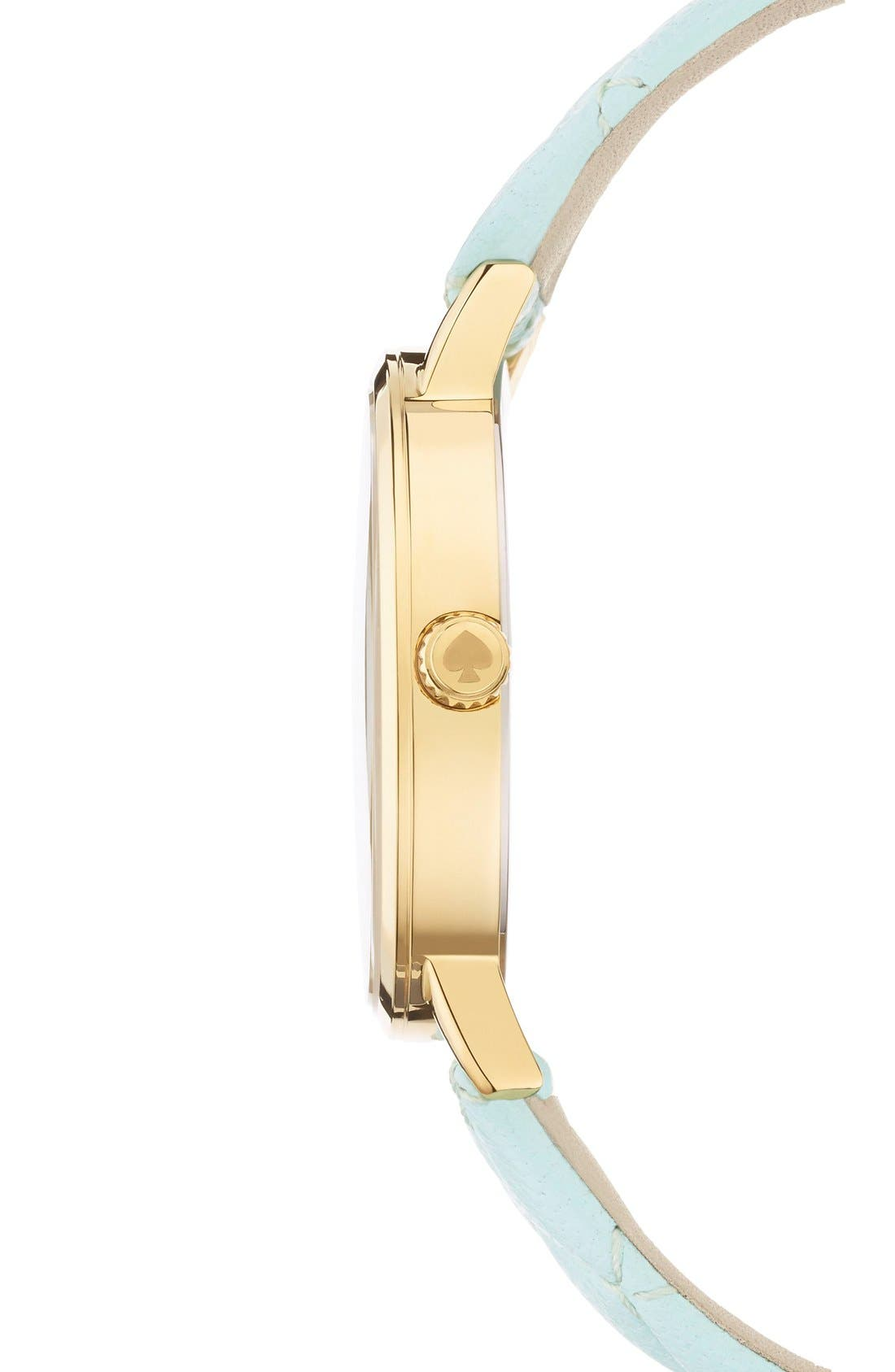Alternate Image 3  - kate spade new york 'metro' quilted leather strap watch, 34mm