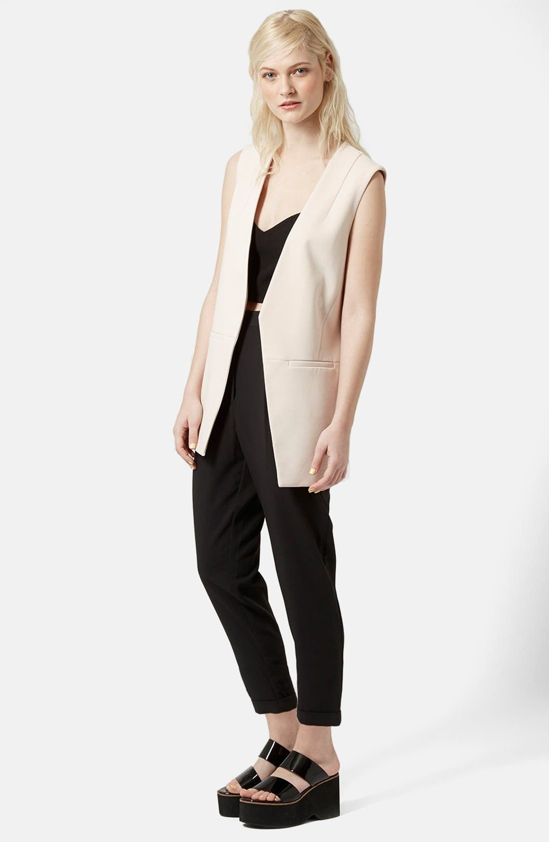 Alternate Image 4  - Topshop Notch Back Tapered Trousers
