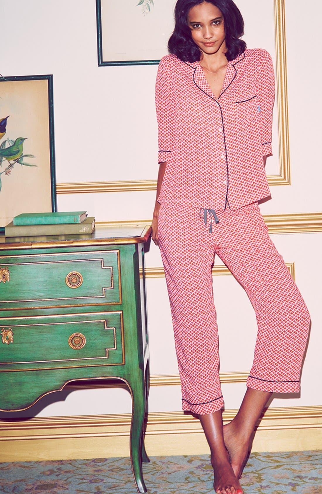 Alternate Image 4  - DKNY Print Capri Pajamas