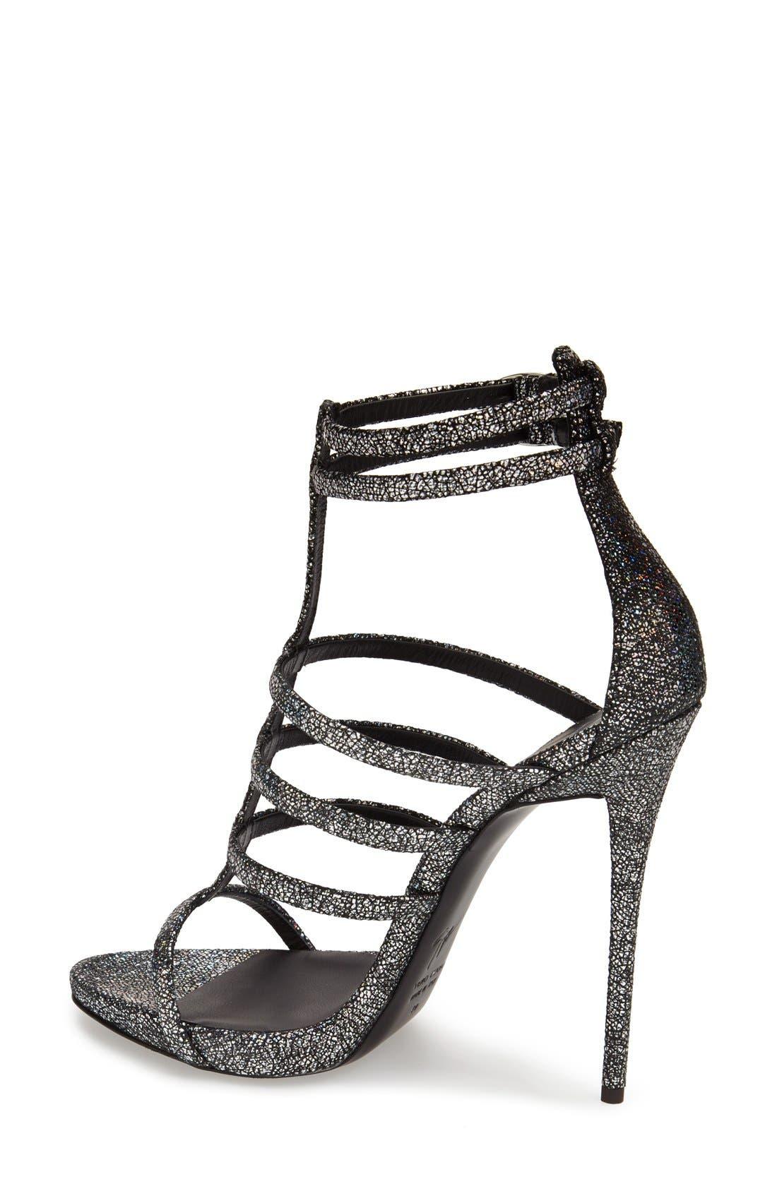 Alternate Image 2  - Giuseppe Zanotti Metallic Strappy Sandal (Women)