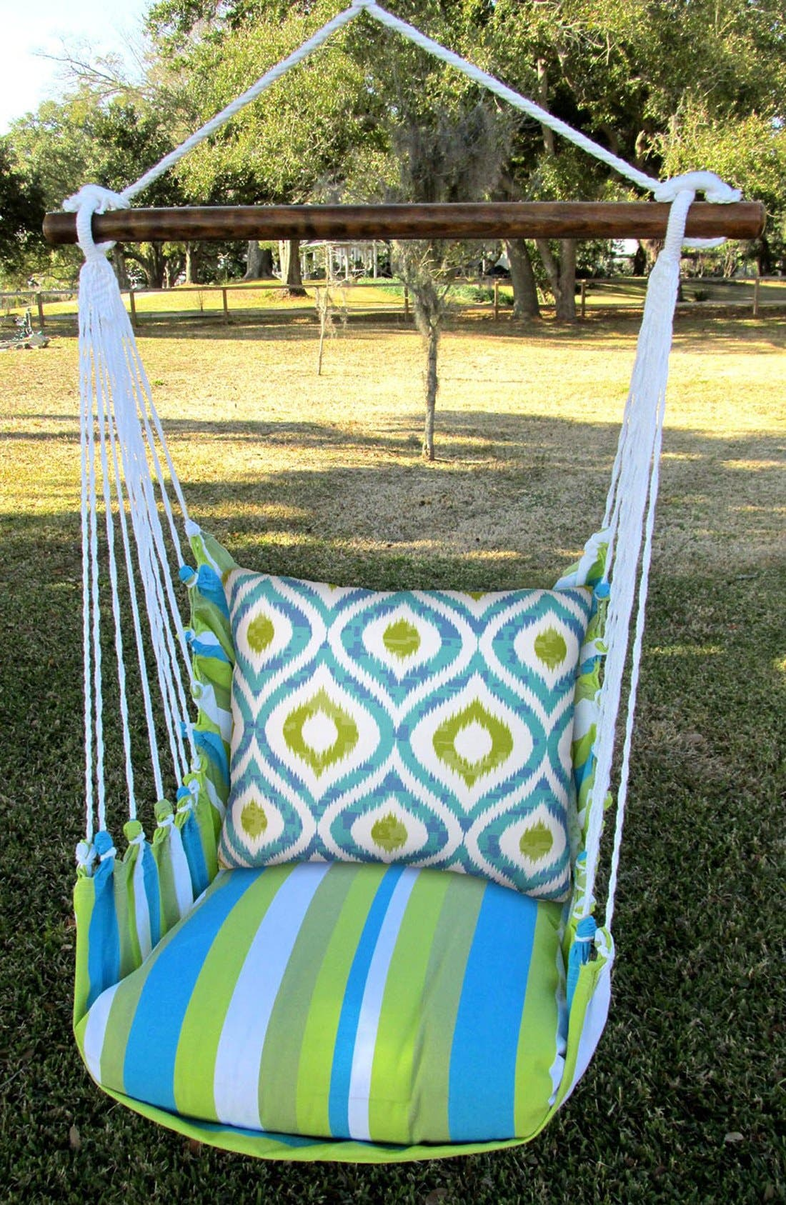 Alternate Image 2  - Magnolia Casual Beach Stripe Swing Chair
