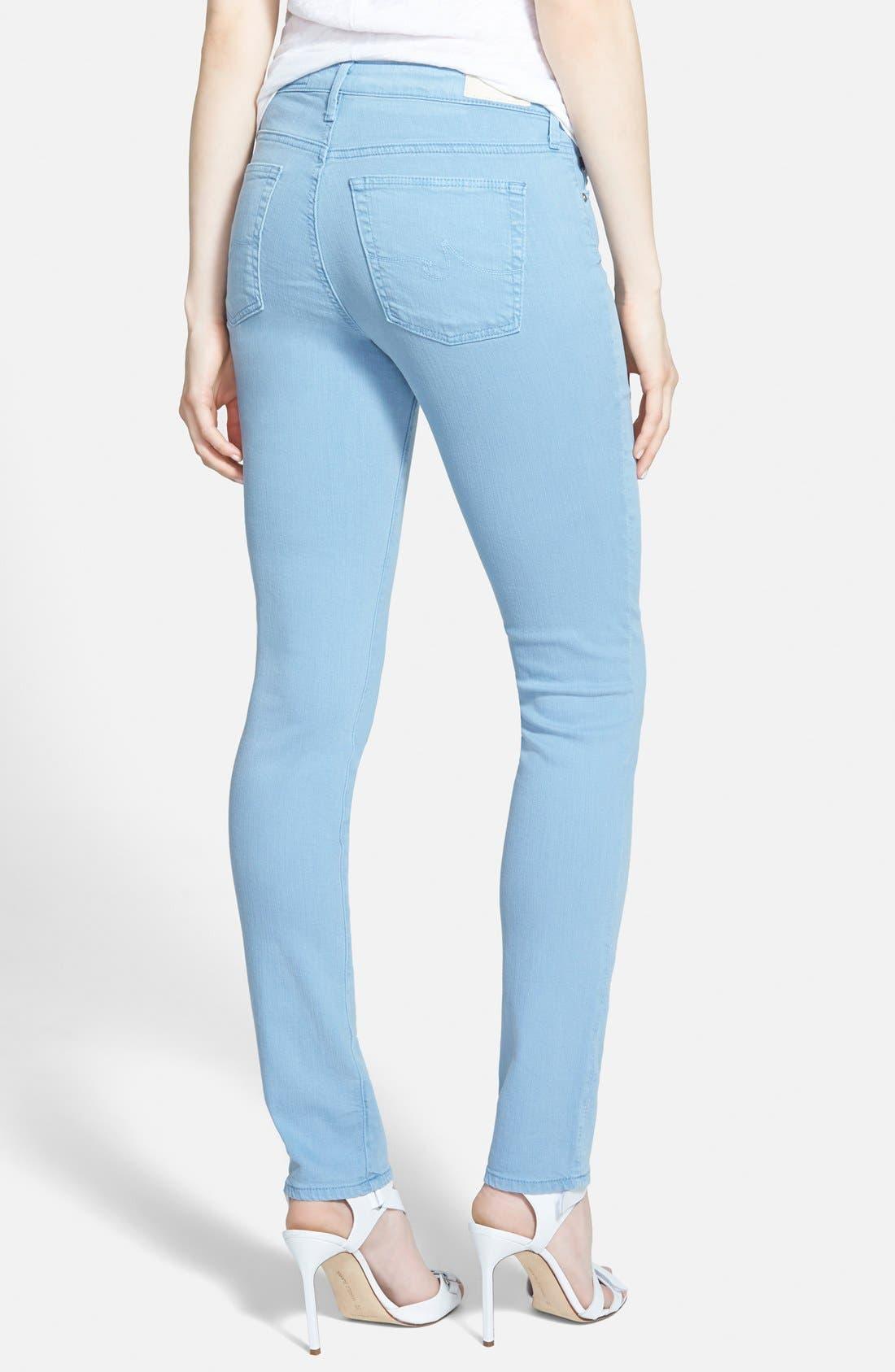 Alternate Image 2  - AG 'The Prima' Cigarette Leg Skinny Jeans (Sulfur Hazy)