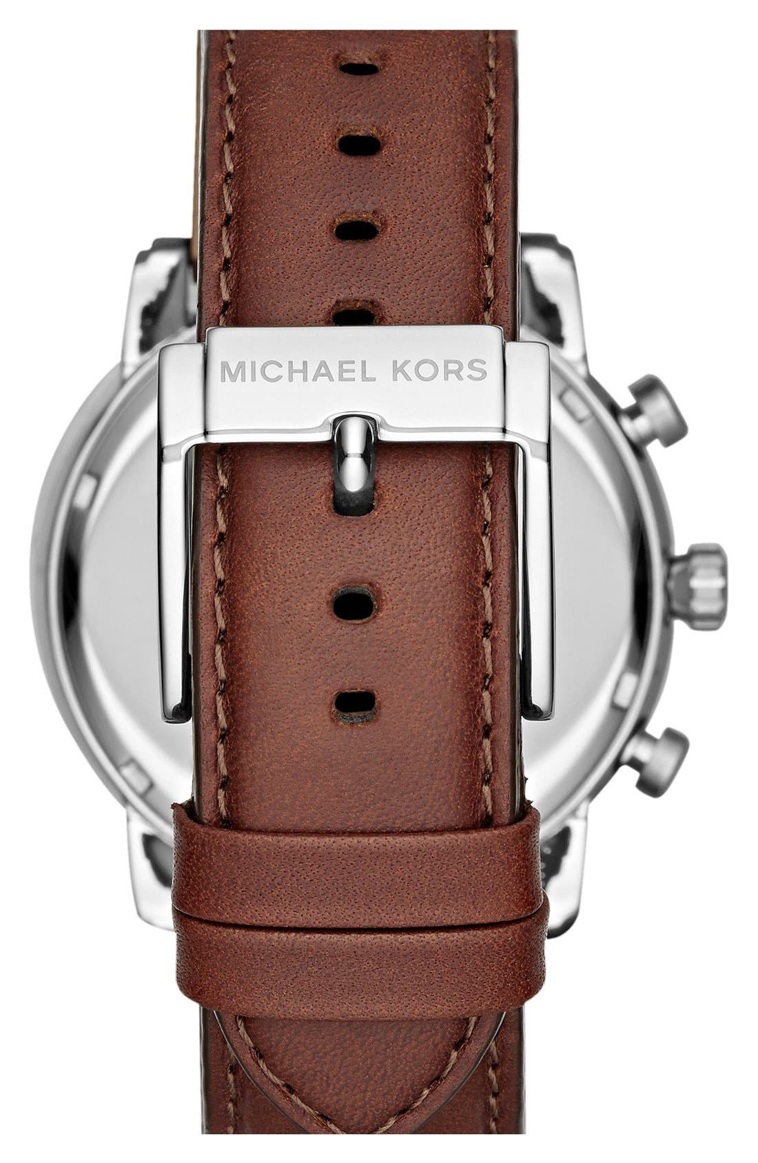 Alternate Image 2  - Michael Kors 'Pennant' Chronograph Leather Strap Watch, 43mm (Nordstrom Exclusive)
