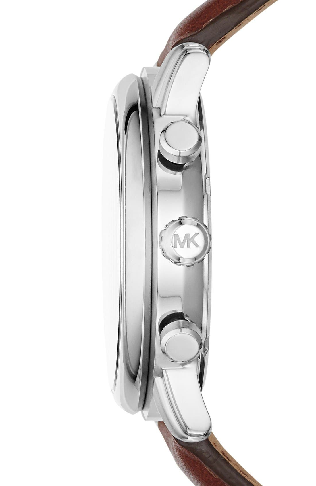 Alternate Image 3  - Michael Kors 'Pennant' Chronograph Leather Strap Watch, 43mm (Nordstrom Exclusive)