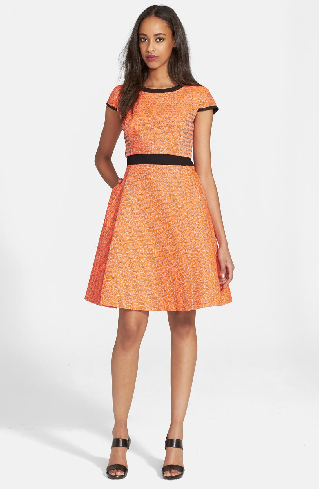 Main Image - Ted Baker London 'Quiara' Jacquard Fit & Flare Dress
