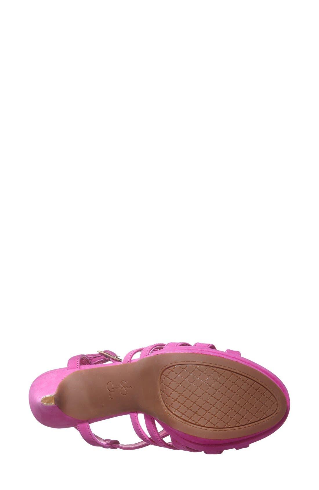 Alternate Image 4  - Jessica Simpson 'Peace' Suede Peep Toe Platform Sandal (Women)