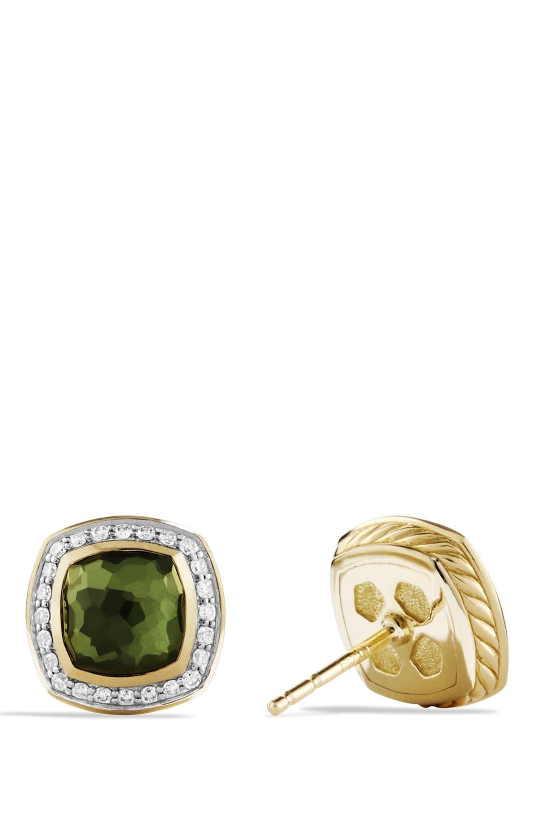 Alternate Image 2  - David Yurman 'Albion' Earrings with Semiprecious Stone and Diamonds in Gold