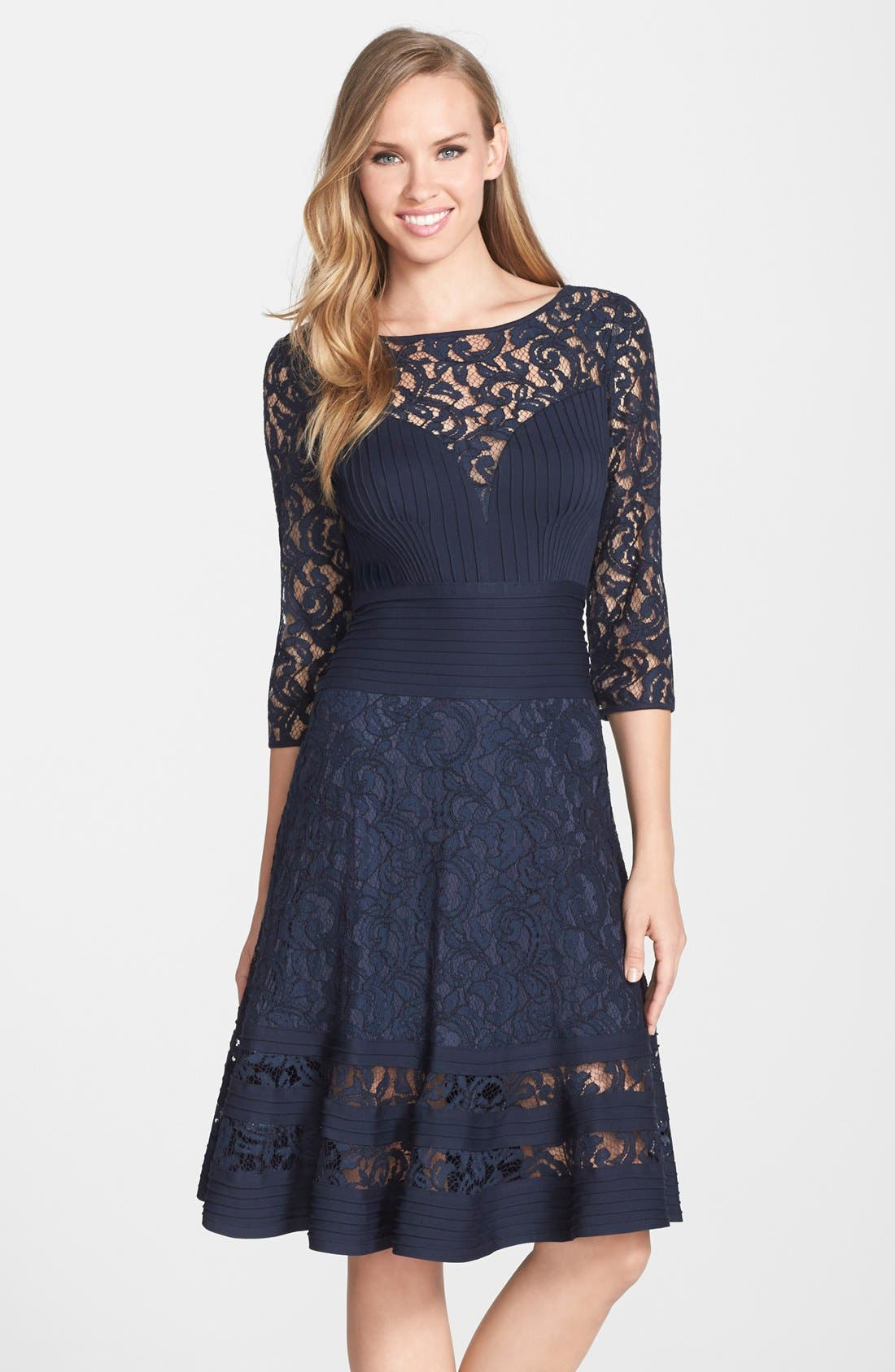 Alternate Image 1 Selected - Tadashi Shoji Lace Fit & Flare Dress