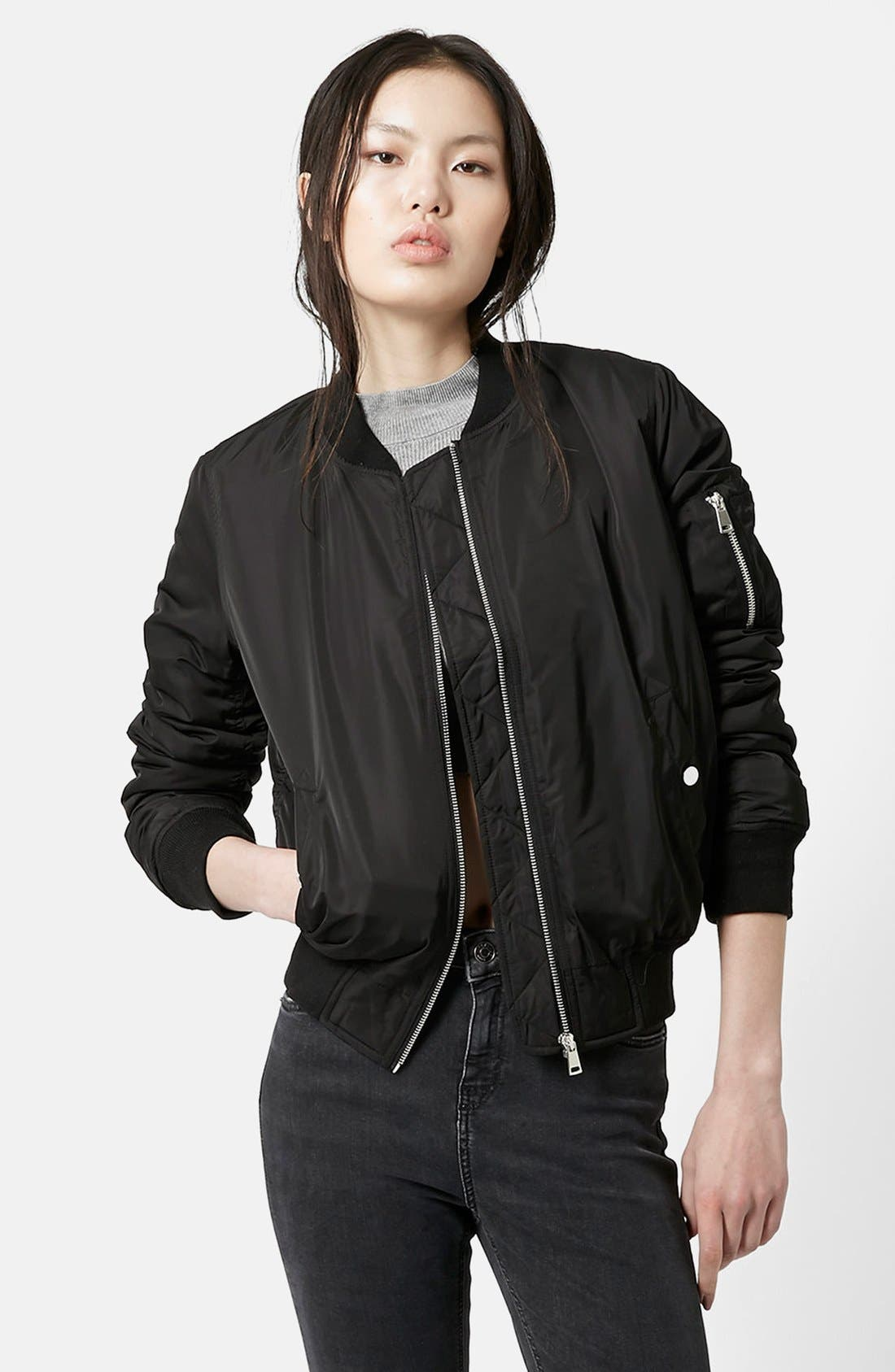 Alternate Image 1 Selected - Topshop 'Morris MA-1' Bomber Jacket