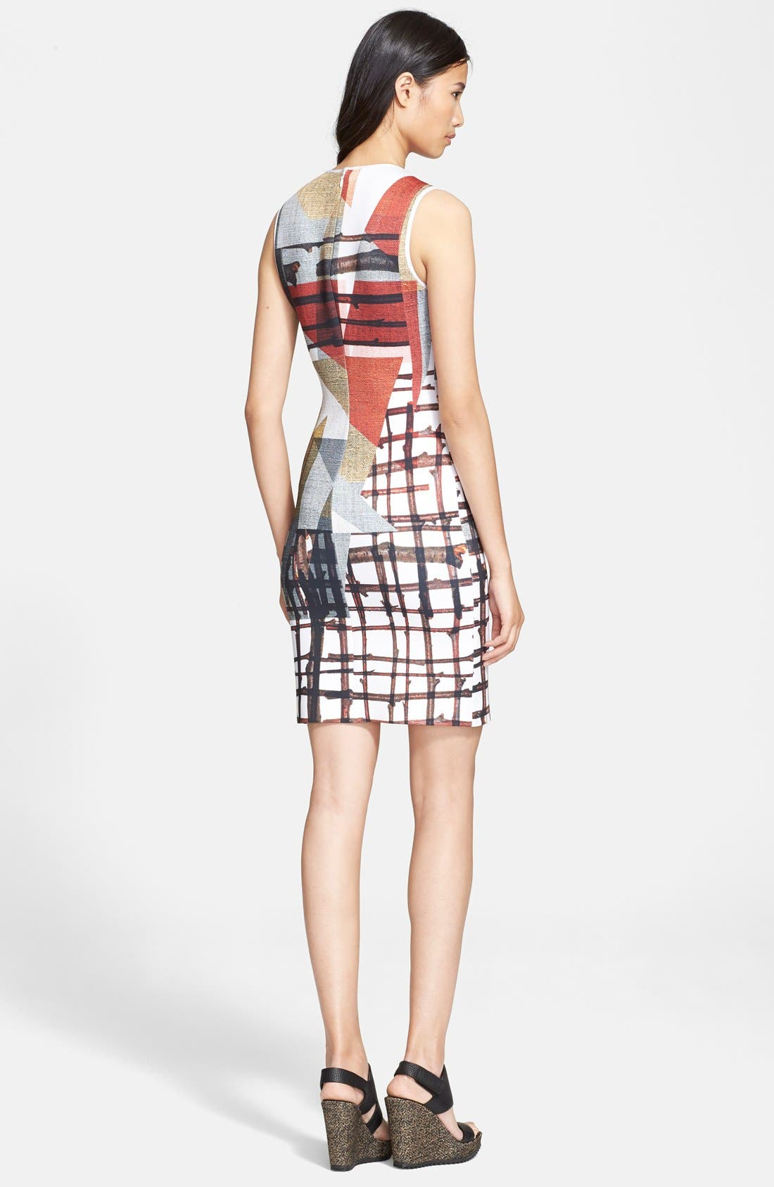 Alternate Image 2  - Clover Canyon 'Gradient Plaid' Body-Con Dress
